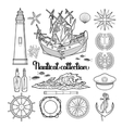 Graphic nautical collection vector image