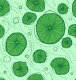 pattern of stylized design lotus leaves vector image