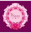 Pink princess pillow vector image