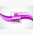 abstract smooth design template vector image vector image