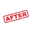 After Text Rubber Stamp vector image vector image