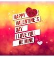 Attractive Happy Valentines Day Concept vector image vector image