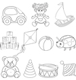Baby toys vector image vector image