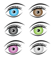 beauty eyes style vector image