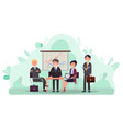 business partners on meeting conference in office vector image vector image