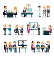 Business People Flat Collection vector image vector image