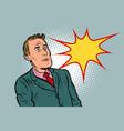 businessman surprised in shock vector image