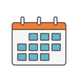calendar reminder social media icon vector image