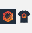 california venice beach t-shirt and apparel design vector image vector image