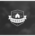 Camping Logotype Design Element in Vintage Style vector image vector image