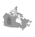 canada map with coat arms vector image