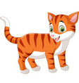 cartoon funny cat isolated on white background vector image vector image