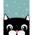 cat with snowflake vector image vector image