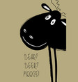 christmas greeting card with funny moose vector image vector image