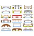 city bridge urban crossover bridge construction vector image vector image