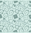 clock timer icon seamless pattern background vector image vector image
