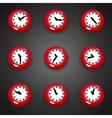 Colorful cartoon style clock timer for game with vector image