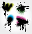 colorfull grunge splashes vector image