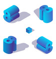 concept collection with isometric blue vector image