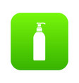 cosmetic bottle icon digital green vector image vector image