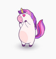 cute cartoon unicorn funny vector image