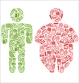 Diet and fatty food vector image