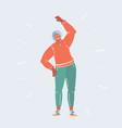 elderly woman doing exercising vector image vector image