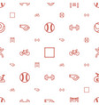 exercise icons pattern seamless white background vector image vector image