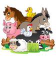 farm animals topic image 2 vector image