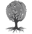 Finger print tree vector image vector image