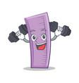 fitness ruler character cartoon design vector image