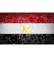 Flags Egypt with broken glass texture vector image