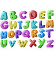 Font design with english alphabets vector image vector image