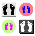 foot flat icon vector image