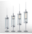 glass medical syringe isolated empty vector image vector image
