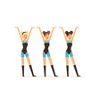 group of girls dancing in identical outfits vector image