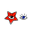 human eyes the look is directed to viewer an vector image vector image