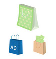 isolated object of package and food logo set of vector image