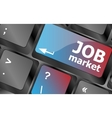Job market key on the computer keyboard keyboard vector image vector image