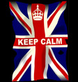 keep calm union jack vector image