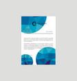 letterhead design template vector image vector image