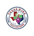 logo emblem texas wine vector image