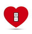 Love Heart Switch Button vector image