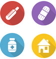 Medical treatment flat design icons set vector image