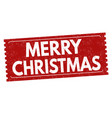 merry christmas grunge rubber stamp vector image vector image