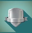 Metal shield Stock vector image