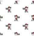 minimalistic young delivery boy character vector image vector image