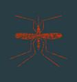 mosquito grunge icon vector image