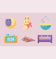 newborn baaccessories set cute bashower vector image vector image