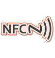 nfc tag sticker sign of near field communication vector image vector image